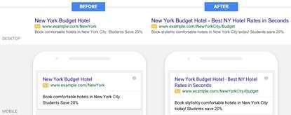 Google AdWords ad changes