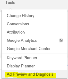 Image Google Ad Preview Tool Selected